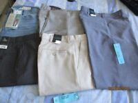 Bundle, 30 regular x 5 pair mens trousers BNWT