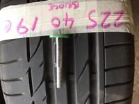 Bridgestone tyres 225 40 19 RUN FLAT BMW TYRES
