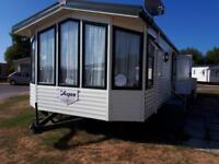 Caravan to hire on Presthaven beach resort, North Wales