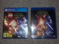 Lego Star Wars Force Awakens PS4 + Star Wars Force Awakens Blue Ray