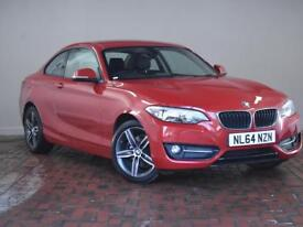 BMW 2 SERIES 220D SPORT 2DR (red) 2014