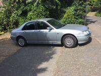Rover 75. Lots of extras, good bodywork but no mot so repair or spares