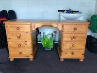 Pinewick Solid Pine 8 Drawer Dressing Table