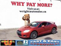 2009 Mitsubishi Eclipse GT| LEATHER| SUNROOF| 55,600KMS| $11,997
