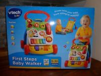 Vtech Baby First Steps Baby Walker - Boxed in Very Good Condition