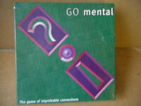 (Go Mental) a board game of improbable connections. From 1997. New and Sealed.