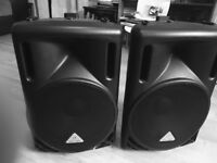 TWO B212D BEHRINGER ACTIVE SPEAKERS