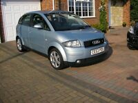 (2003) AUDI A2 1.4 TDI SE MET/BLUE 5DOOR ( ONLY 71000 MILES FSH £30 A YEAR TAX)