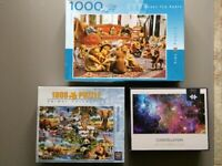 Jigsaw Puzzles - 4 adult jigsaws in total