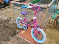 Girls bike, princess
