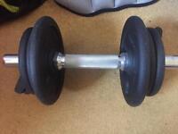 Various fitness equipment