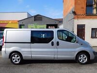 Finance me.. 63 plate Vauxhall Vivaro LWB 6 seat factory fitted crew van. only 2.5 years old (4)