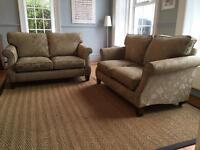 Pair of two seater sofas.