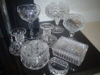 SELECTION OF VINTAGE CRYSTAL