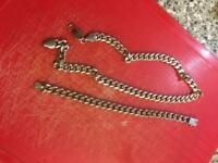 Sterling silver men's necklace and bracelet