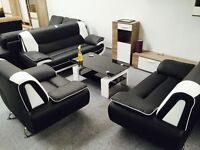 Brand new black and red 3+2 seater set, available in 4 other colours,