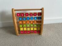 Wooden alphabet / number abacus