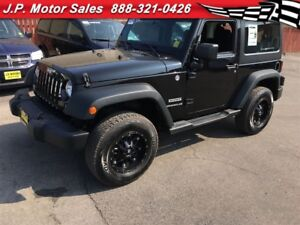 2014 Jeep Wrangler Sport, Manual, A/C, Hard Top, 4x4, 41, 000km