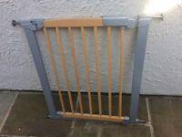 Baby Dan avantgarde metal and wood baby gate