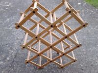 Folding Wooden Wine Rack INC DELIVERY