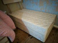 Large Single Divan Bed & Mattress