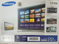 "Brand New Samsung 22"" LED Smart TV. (Unwanted Gift)"