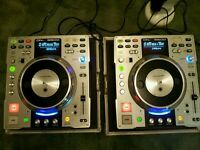 Denon dn-s3500 (pair) cd decks in flight case £400