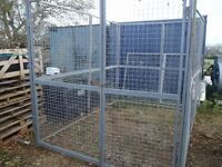 Galvanised Large outside cage ideal for dogs 10ft x 6ft x 7ft