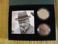 Sir Winston Churchill 50th anniversary coin set