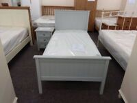 Ex Display Julian Bowen Maine Single Bed Mattress & 3 Drawer Bedside Table **Can Deliver**
