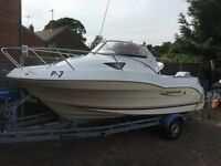 Quicksilver 540 Cabin Cruiser, Mariner oplimax 90hp with trailer, very good condition