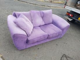 2 Seater Sofa Mauve non smoker