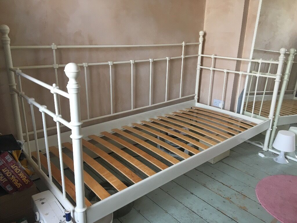 Ikea Single White Cream Metal Daybed In Windsor