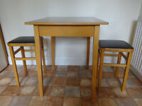Kitchen table and two stools