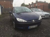PEUGEOT 206 NICE AND CLEAN 1.1 ENGINE 12 MONTHS MOT