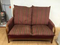 2 seater modern couch wooden frame