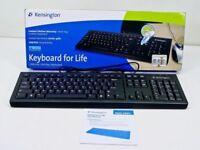 BNIB - BRAND NEW BOXED -- QUALITY *Kensington* USB Black Computer PC Keyboard