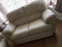 Faux Leather sofa (excellent condition 3, 2 and 1 seater) Reclining manual