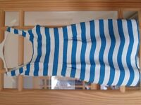 Oasis dress size 8: Blue and white stripe