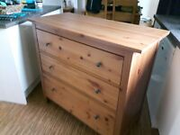 Lovely wooden chest of drawers, near perfect condition. £60, buyer collects