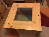 Coffee Table - IKEA table used 80cm square with glass centre