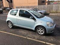 2004 Toyota Yaris 1.2 blue ,,,, mot and taxed ,,,, £795