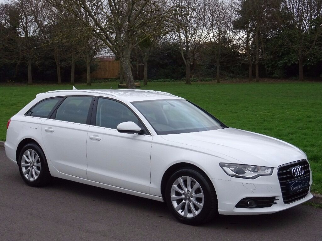 2014 audi a6 avant 2 0 tdi ultra se s tronic 5dr estate ibis white heated full black leather. Black Bedroom Furniture Sets. Home Design Ideas