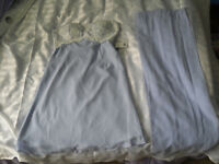 """New with tag Ladies Lilac bridesmaids dress, with lace and sequenced top with wrap size 34"""" chest"""