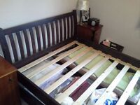 Double Bed Frame Mahagany Colour
