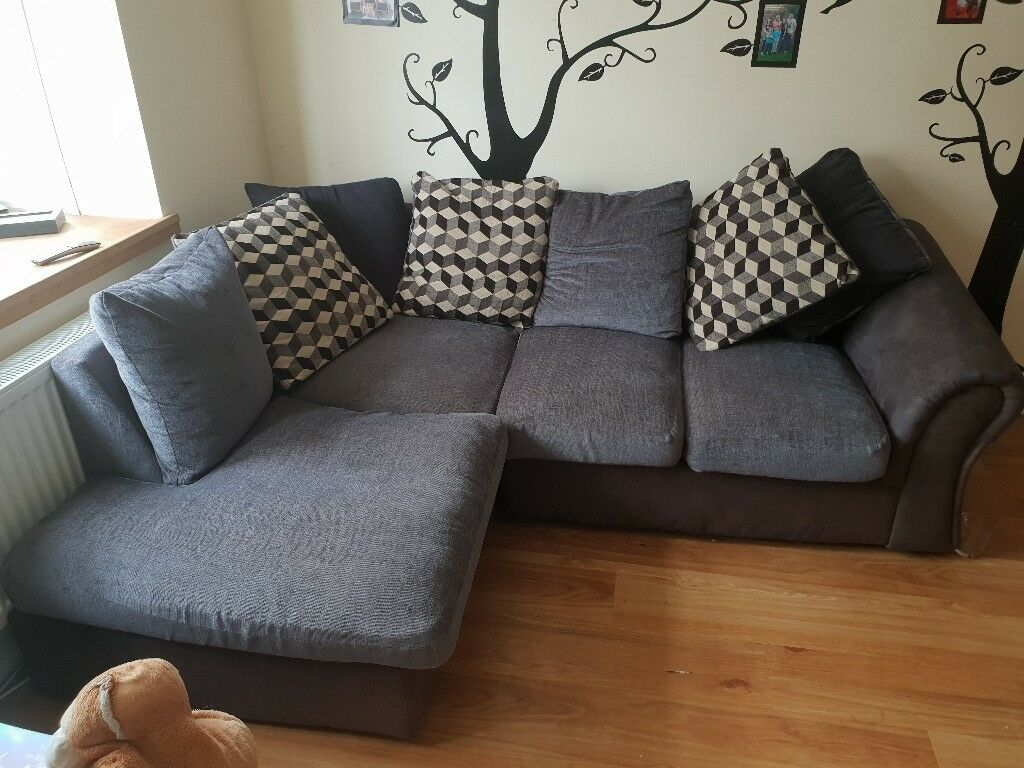 black and grey corner sofa   in Kidderminster ...