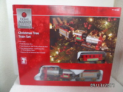 Lighted Sound & Animated Christmas Tree Train Set Mount To Tree or Run On Floor