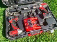Milwaukee kit Impact Driver C18ID + Combi Hammer Drill HD18PD 2 x batteries