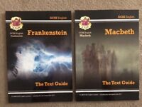 Frankenstein and Macbeth GCSE English Text Guide revision books