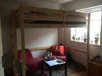 Double bunk bed with a mattress for £50!